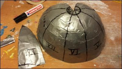 Anfertigung der Schnittmuster für die Helmplatten