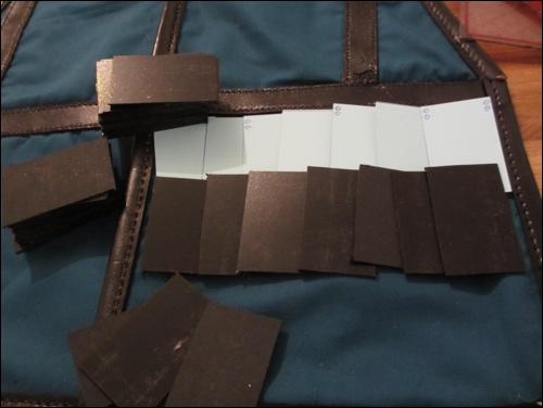 Test: Planung und Anpassung der Lamellen / Rüstungsplatten